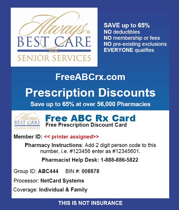 free rx discount card from always best care midlands - Best Prescription Discount Card