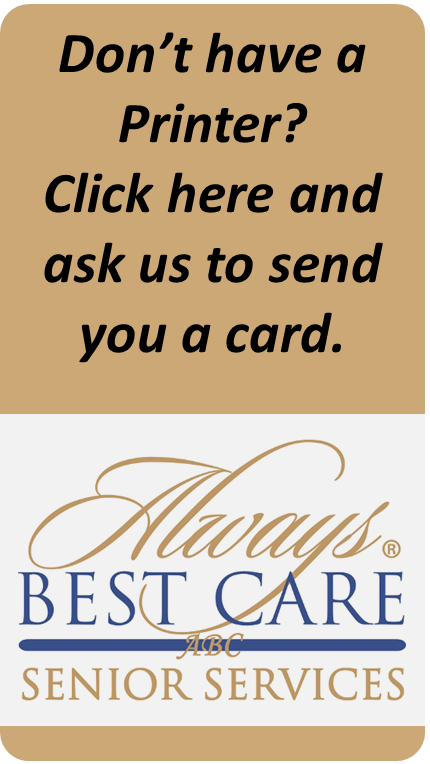 Send me a Free Rx Saver Card from Always Best Care of the Midlands